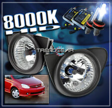 2003 2004 2005 TOYOTA ECHO BUMPER DRIVING FOG LIGHTS LAMP CHROME W/8K HID+SWITCH