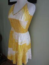 Zoe D Yellow Summer Halter Dress Size S