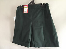 BNWT Ladies Bottle Green Stubbies Sz 10 School Uniform Skort Style Culottes