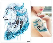 Temporary Tattoo Stickers Body Art Waterproof Blue Lion KM-029 Spaceman