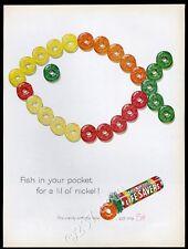 1961 Life Savers candy Five Flavors fish shape vintage print ad