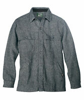 NWT Men's Woolrich Wool Stag Jacket Solid Gray Washable Thick Wool sz L XL & 2XL