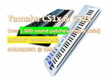 Yamaha CS1x CS2x - 1.000+ Patches Collection .Syx & .Mid - Instant Download