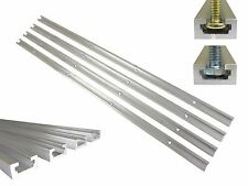 """Lot 4 T Track 24"""" Aluminum 3/4"""" x 3/8"""" for 1/4"""" & 5/16"""" T Bolts & 1/4"""" Hex Bolts"""