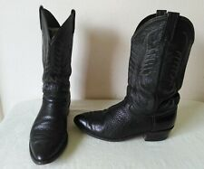 High Quality DAN POST Exotic Elephant? men's Black Cowboy boots Size 10 EW USA m
