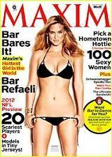Maxim Magazine September 2012 Bar Refaeli 2012 NFL Preview Schwarzenegger Speaks