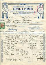 Alte Rechnung 1913 aus Wien, Kettl & Fabris, Blusen-Wäsche,  12/3/14