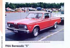 1966 Plymouth Barracuda S 273 ci V8 info/specs/photo prices production 11x8