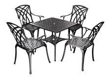 Meubles de jardin et terrasse noirs en aluminium