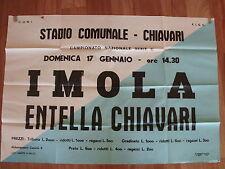 RARO MANIFESTO LOCANDINA STADIO INCONTRO CALCIO ENTELLA - IMOLA SERIE C 1969/70