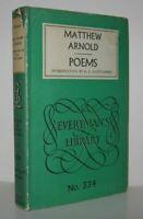 Matthew Arnold / POEMS 1959 Everyman's Library; Vintage Copy