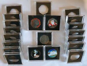 Square Coin Capsules Quadrum Capsules for 50p coin Free Postage