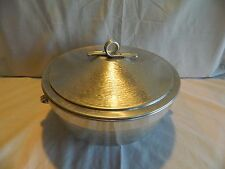 VINTAGE HAMMERED ALUMINUM COVERED BOWL –ICE BUCKET OR CASSEROLE ITALY