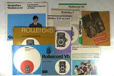 Rolleiflex, Rolleicord: 10 prospectus en langue francaise, 1949-1968