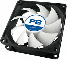 4 X Pack Arctic F8 80 mm 8 cm jeu PC Case Fan, haute performance GARANTIE 6 an