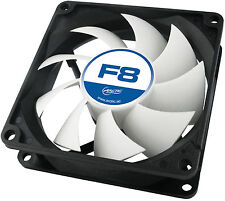 4 x Pack Arctic F8 80mm 8cm PC Gaming Case Fan, High Performance 6 Year Warranty