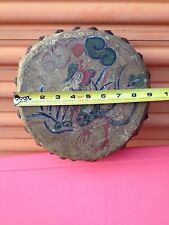 ANTIQUE CHINESE MUSICAL INSTRUMENT DRUM AND DRUMSTICK, LEADER CASE