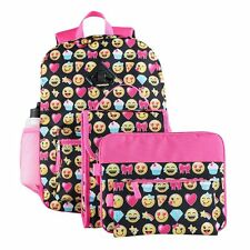 Girls Emoji Backpack 6 Piece Set! NEW