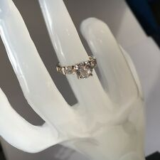 Beautiful 'Diamonique' Created 7 stone White Diamond Ring in 925 Sterling Silver