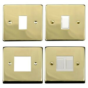 Light Switch Conversion Metal Cover Plate Vic Brass No Wiring Single/Double