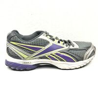 Reebok Runtone Running Shoes Womens Size 8 Gray Purple Sneakers 52876 1AP501