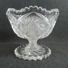 FS-00003 EAPG Cambridge Glass #2699 BUZZ SAW Footed Jelly Compote c1907