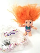 Applause Magic Troll Baby 3in Orange Hair Small Doll Vtg 90s With Plastic Bag