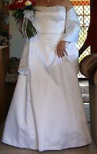 Chiffon Wedding Dress size 18 + shawl, like new, dry cleaned
