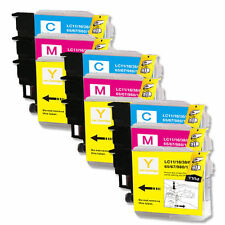 6 COLOR Ink Tank Set for LC61 Brother All-In-One MFC 255CW 290C 295CN 385CW J220