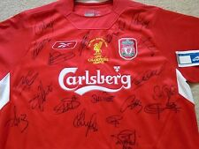 "LIVERPOOL FOOTBALL CLUB ""SIGNED"" RARE ISTANBUL 2005 UEFA CHAMPIONS LEAGUE SHIRT"
