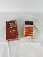 Vintage Texas Instruments Ti-1270 Electronic Calculator Works with Box & Manual