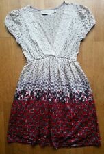 Ladies Top MINA UK UK 8 US 4 EU 36 Cream Red Grey