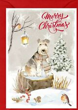 "Lakeland Terrier Dog A6 (4"" x 6"") Christmas Card - Blank inside - by Starprint"