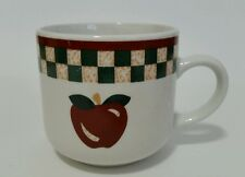 Betty Crocker Coffee Cup Country Inn Collection Checkerboard Stoneware Citation