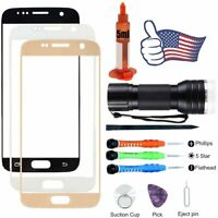For Samsung Galaxy S7 Front Screen Replacement Glass Lens Kit UV Glue Light Tool