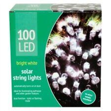 Garden LED Solar Lights - 50/100 Lights - Blue White Outdoor Indoor String Light