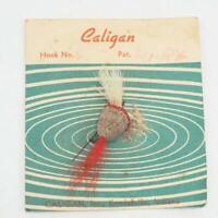 Vintage Caligan Kendallville Indiana Handtied Flies Fly Fishing On Card