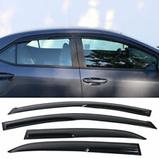 4PCS Window Visor Sun Rain Shade Guard Fit 2014 2015 2016 2017 Toyota Corolla
