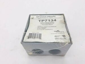 New Cooper Crouse-Hinds TP7134 Two Gang Deep Weatherproof Outlet Box