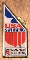 Vintage 1988 USA Swimming Fuji Film Olympic Sponsor Lapel Hat Pin Pinback