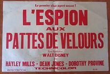 ANCIENNE AFFICHE CINEMA L'ESPION AUX PATTES DE VELOURS WALT DISNEY