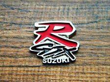 """SUZUKI R-GSX MOTORCYCLE VEST PIN ~1-1/4"""" x 6/8 LAPEL HAT BADGE BROCHE BIKER GSXR"""
