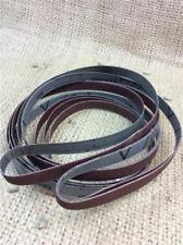 CLEARANCE LOT189 aluminium oxide abrasive strips clothes belts 60 80 & 120 grit
