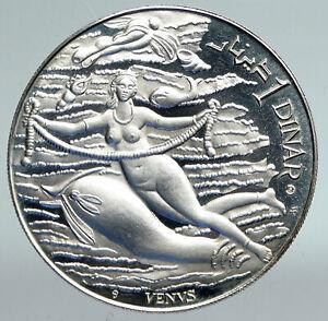 1969 TUNISIA History VENUS APHRODITE Vintage Proof Silver 1 Dinar Coin i91546