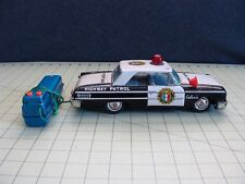 VINTAGE BATTERY REMOTE CONTROL METAL / TIN FORD GALAXIE POLICE CAR
