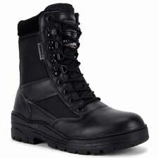 Black Army Military Combat Patrol Boots - Half Leather Tactical Security Cadet