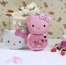 Unlocked Hello Kitty K688 Flip Cute Lovely Small Mini Phone For Women kids Girls
