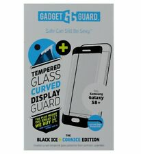 Gadget Guard Tempered Glass Curved Screen Protector for Galaxy S8 Plus-Black Ice