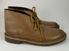Men's Clarks Bushacre 2 Brown Leather Chukka Ankle Boots Size 10.5 M