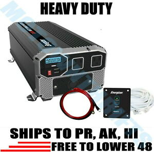 Energizer Heavy Duty 4000 Watt Power Inverter Modified Sine Wave Remote Control